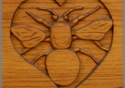 Bourdon en chêne sculpté pour une porte d'entrée