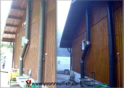 Ponçage et lasure complet de la façade