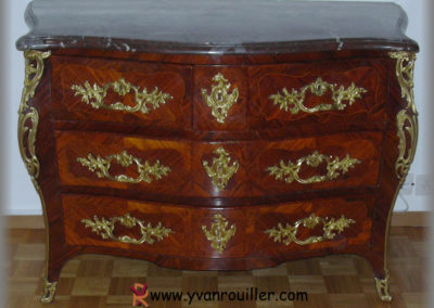 Rénovation d'une commode Louis XV
