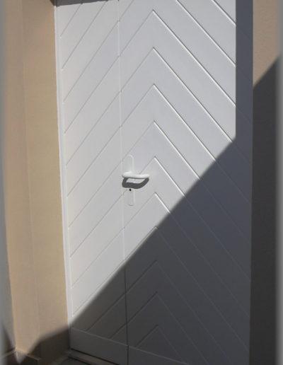 Porte d'entrée à 2 vantaux