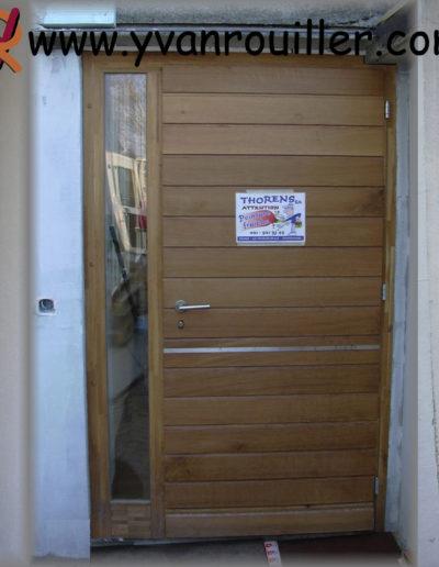 Portes d'entrée lames en chêne