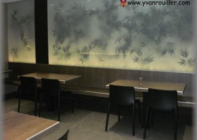 Fabrication des bancs, tables et séparations